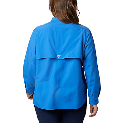 Women's PFG Bahama™ Long Sleeve - Plus Size Womens Bahama™ LS | 475 | 3X, Stormy Blue, back