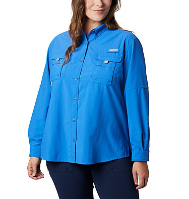 Women's PFG Bahama™ Long Sleeve - Plus Size Womens Bahama™ LS | 475 | 3X, Stormy Blue, front