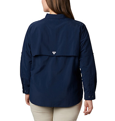 Women's PFG Bahama™ Long Sleeve - Plus Size Womens Bahama™ LS | 475 | 3X, Collegiate Navy, back