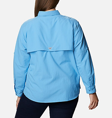 Women's PFG Bahama™ Long Sleeve - Plus Size Womens Bahama™ LS | 475 | 3X, Yacht, back