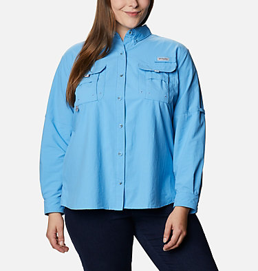 Women's PFG Bahama™ Long Sleeve - Plus Size Womens Bahama™ LS | 475 | 3X, Yacht, front