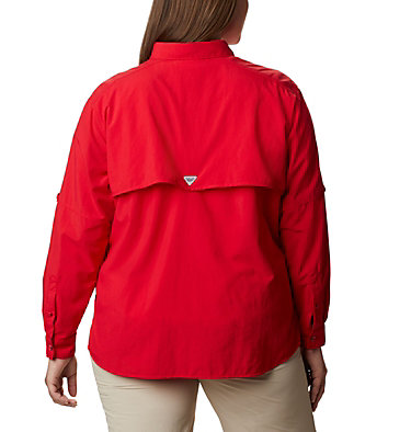 Women's PFG Bahama™ Long Sleeve - Plus Size Womens Bahama™ LS | 475 | 3X, Red Lily, back