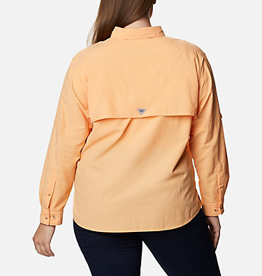 Women's PFG Bahama™ Long Sleeve - Plus Size Womens Bahama™ LS | 475 | 3X, Light Juice, back