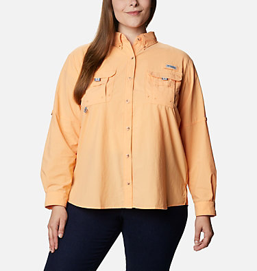 Women's PFG Bahama™ Long Sleeve - Plus Size Womens Bahama™ LS | 475 | 3X, Light Juice, front