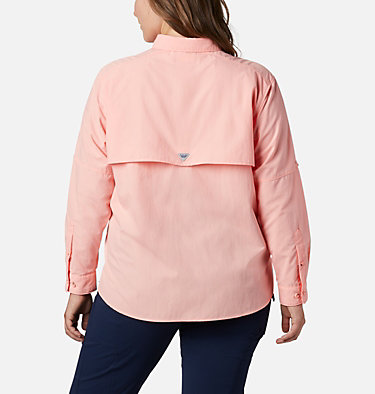 Women's PFG Bahama™ Long Sleeve - Plus Size Womens Bahama™ LS | 475 | 3X, Tiki Pink, back
