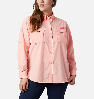 Women's PFG Bahama™ Long Sleeve - Plus Size Womens Bahama™ LS   475   3X, Tiki Pink, front
