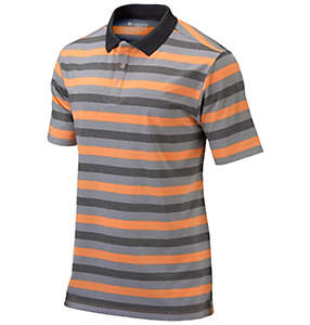 Men's Heather Stripe Golf Polo
