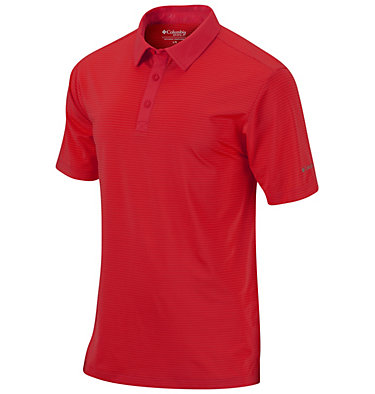 Men's Omni-Wick™ Sunday Polo Sunday Golf Polo | 464 | S, Intense Red, front
