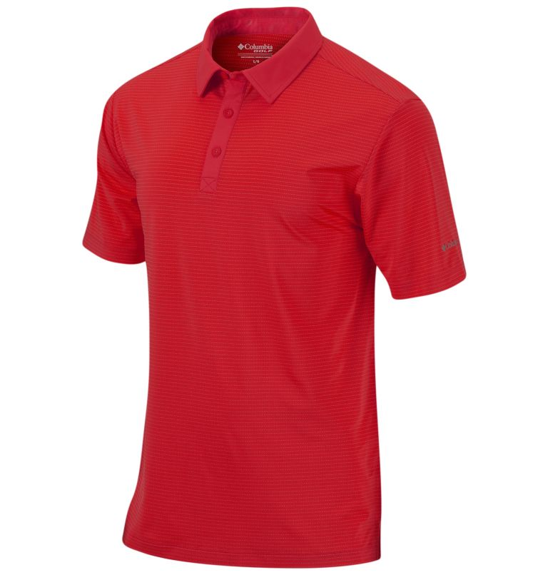 Men's Sunday Golf Polo | 610 | S Men's Omni-Wick™ Sunday Polo, Intense Red, front