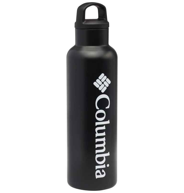 Vacuum Double Wall Bottle 20oz | 010 | O/S Double-Wall Vacuum Bottle with Screw-On Top 20oz, Black, front