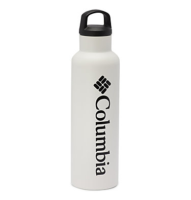 Double-Wall Vacuum Bottle with Screw-On Top 20oz Vacuum Double Wall Bottle 20oz   010   O/S, White, front