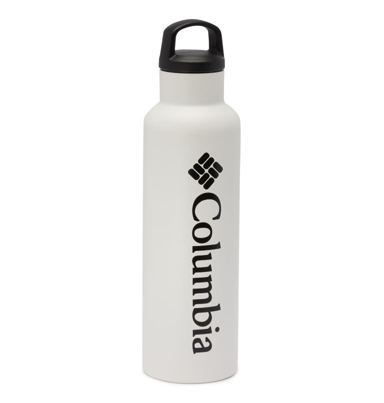 Vacuum Double Wall Bottle 20oz | 100 | O/S Double-Wall Vacuum Bottle with Screw-On Top 20oz, White, front