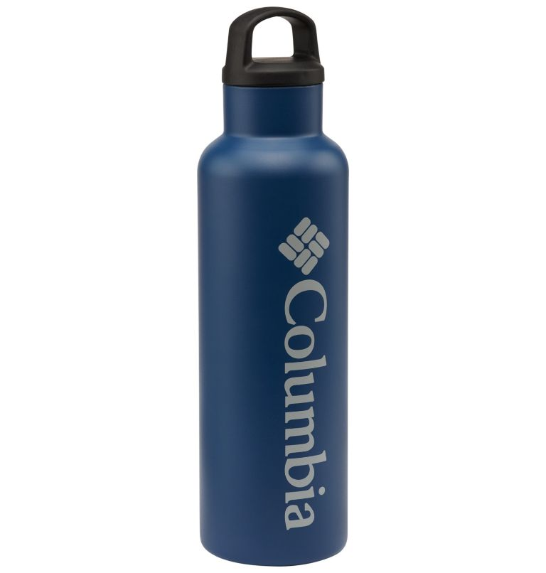 Vacuum Double Wall Bottle 20oz | 435 | O/S Double-Wall Vacuum Bottle with Screw-On Top 20oz, Carbon, front