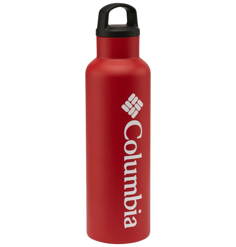 Vacuum Double Wall Bottle 20oz | 631 | O/S Double-Wall Vacuum Bottle with Screw-On Top 20oz, Red Spark, front