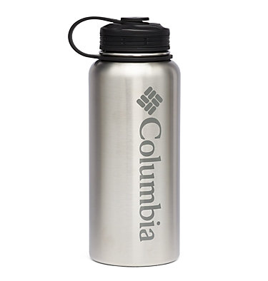 Double-Wall Vacuum Bottle with Screw On Top 32oz Vacuum Double Wall Bottle 32oz   431   O/S, Stainless, front
