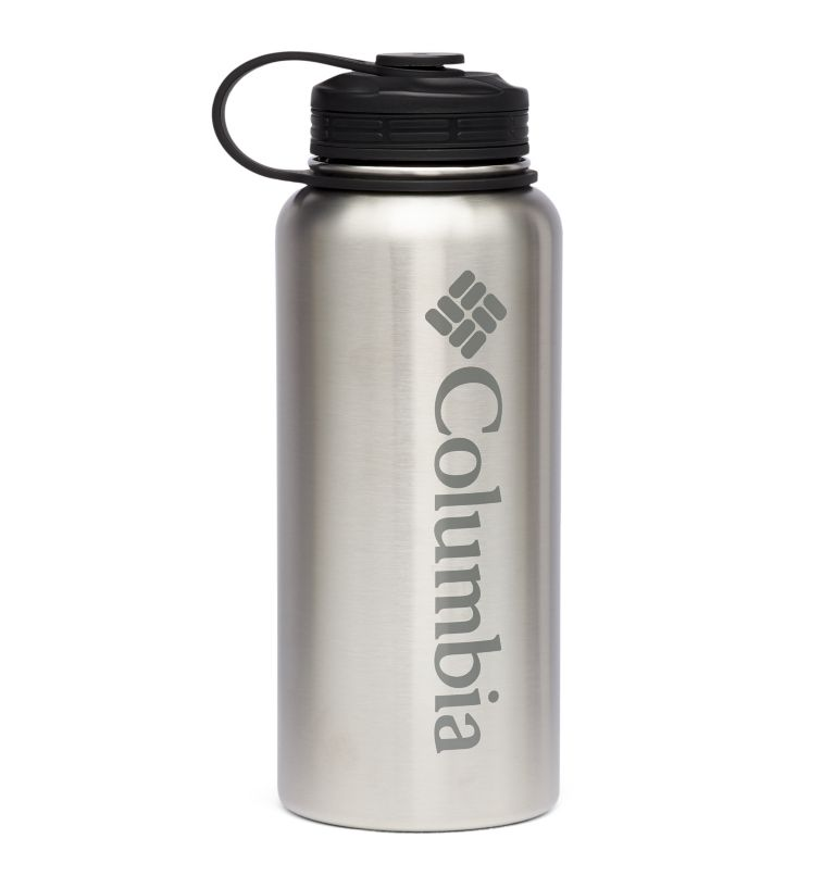 Vacuum Double Wall Bottle 32oz | 053 | O/S Double-Wall Vacuum Screw-On Top Bottle 32oz, Stainless, front