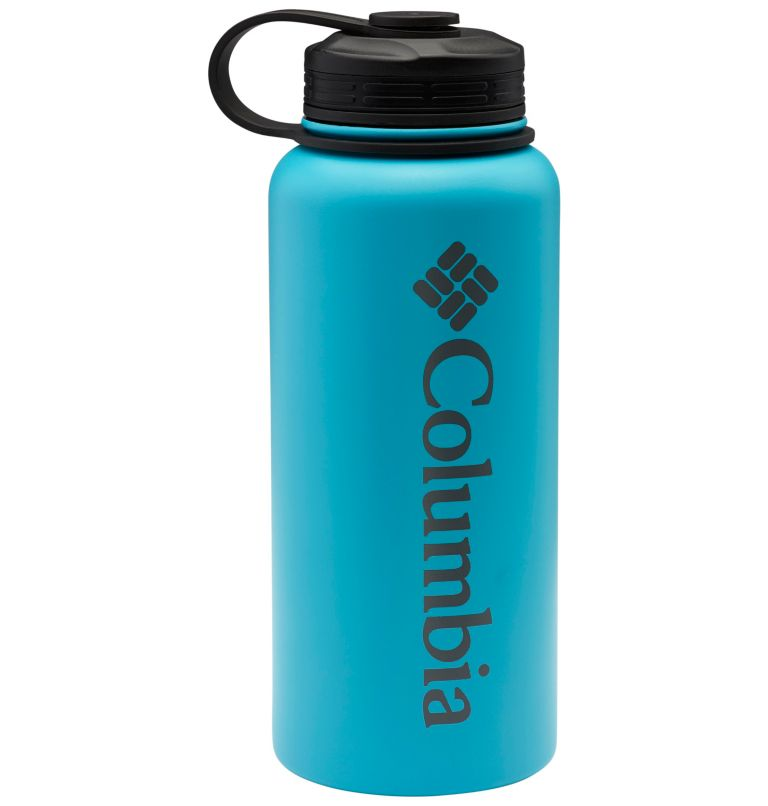 Vacuum Double Wall Bottle 32oz | 431 | O/S Double-Wall Vacuum Bottle with Screw On Top 32oz, Columbia Blue-Sky Blue, front
