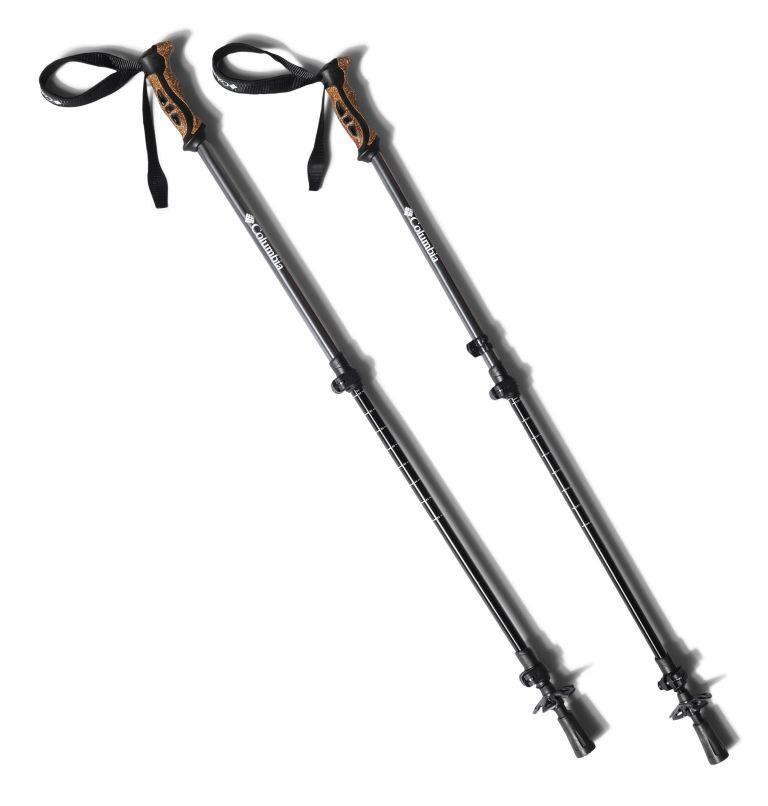 Trekking Poles Aluminum 2pc | 010 | O/S Bâtons de randonnée en aluminium 6160 - Lot de 2, Black, front