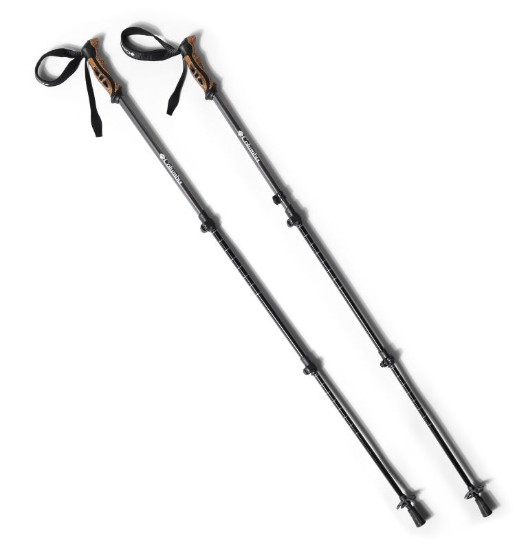 Trekking Poles Aluminum 2pc | 011 | O/S Bâtons de randonnée en aluminium 6160 - Lot de 2, Black, a1