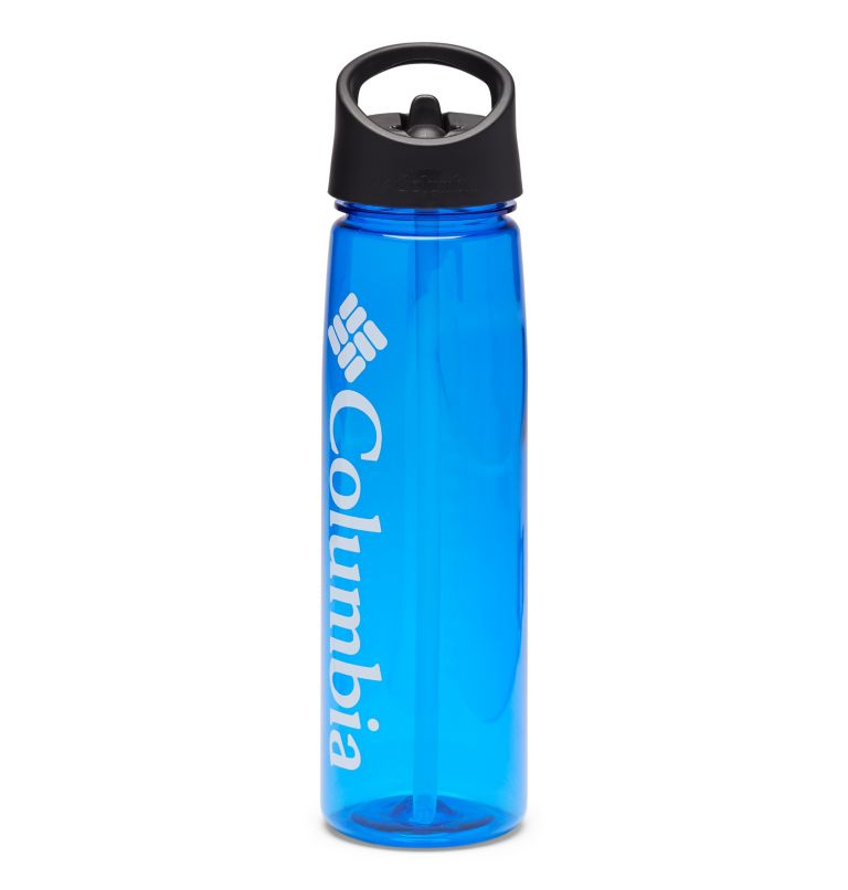 Tritan Straw Top Outdoor Bottle 25oz | 437 | O/S BPA-Free Straw-Top Bottle 25oz, Azul, front