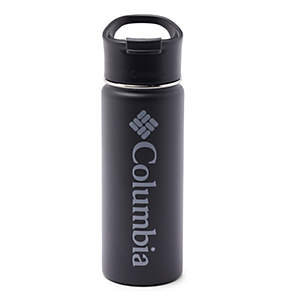 Double-Wall Vacuum Bottle with Sip-Thru Top - 18oz