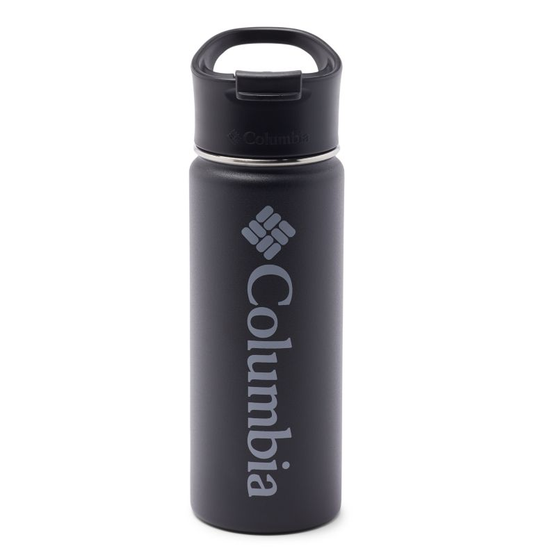 Vacuum Double Wall Bottle 18oz   010   O/S Double-Wall Vacuum Bottle with Sip-Thru Top - 18oz, Black, front