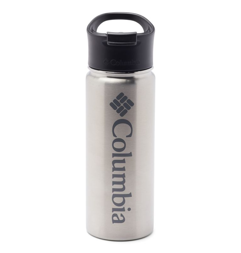 Vacuum Double Wall Bottle 18oz | 029 | O/S Double-Wall Vacuum Bottle with Sip-Thru Top - 18oz, Stainless, front