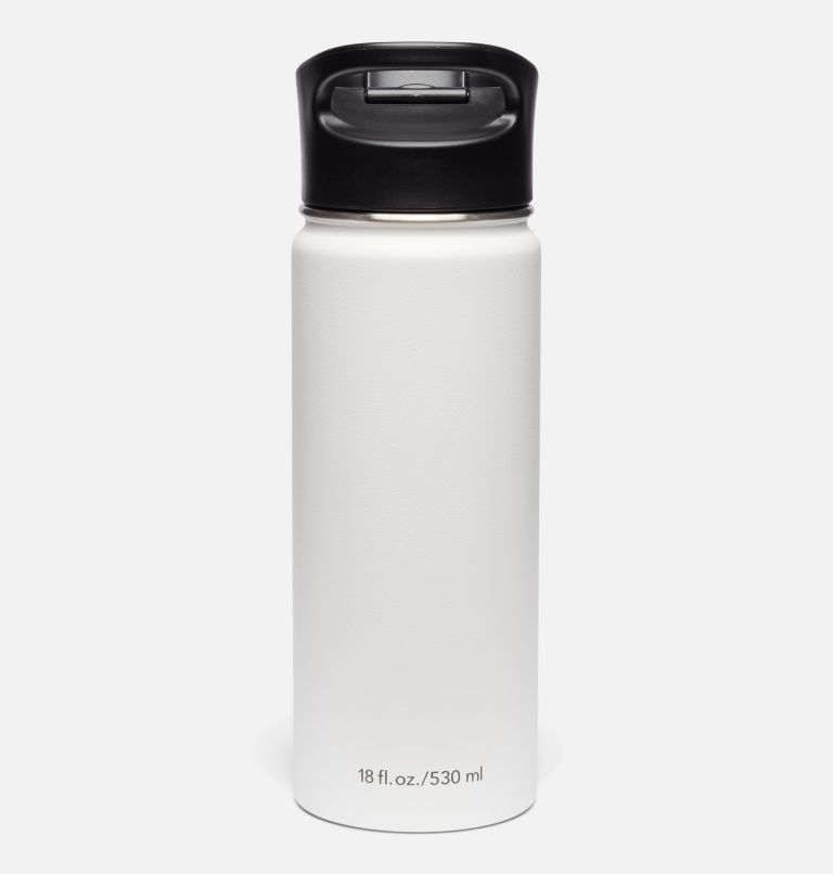 Double-Wall Vacuum Bottle with Sip-Thru Top - 18oz Double-Wall Vacuum Bottle with Sip-Thru Top - 18oz, White, back