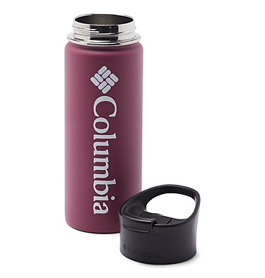 Double-Wall Vacuum Bottle with Sip-Thru Top - 18oz Vacuum Double Wall Bottle 18oz   010   O/S, Wine Berry, a1