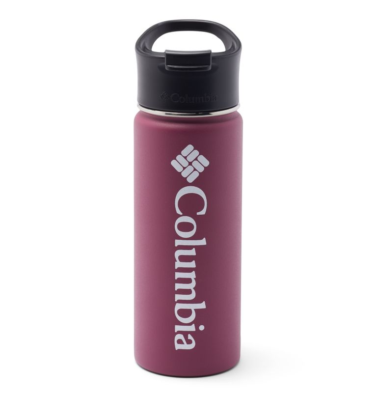 Vacuum Double Wall Bottle 18oz | 459 | O/S Double-Wall Vacuum Bottle with Sip-Thru Top - 18oz, Wine Berry, front