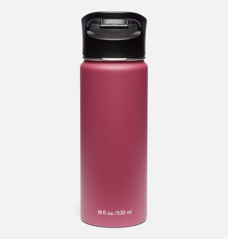 Double-Wall Vacuum Bottle with Sip-Thru Top - 18oz Double-Wall Vacuum Bottle with Sip-Thru Top - 18oz, Wine Berry, back