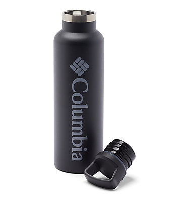 Double-Wall Vacuum Bottle with Screw-On Top - 21oz Double-Wall Vacuum Bottle with Screw-On Top - 21oz   010   O/S, Black, a1