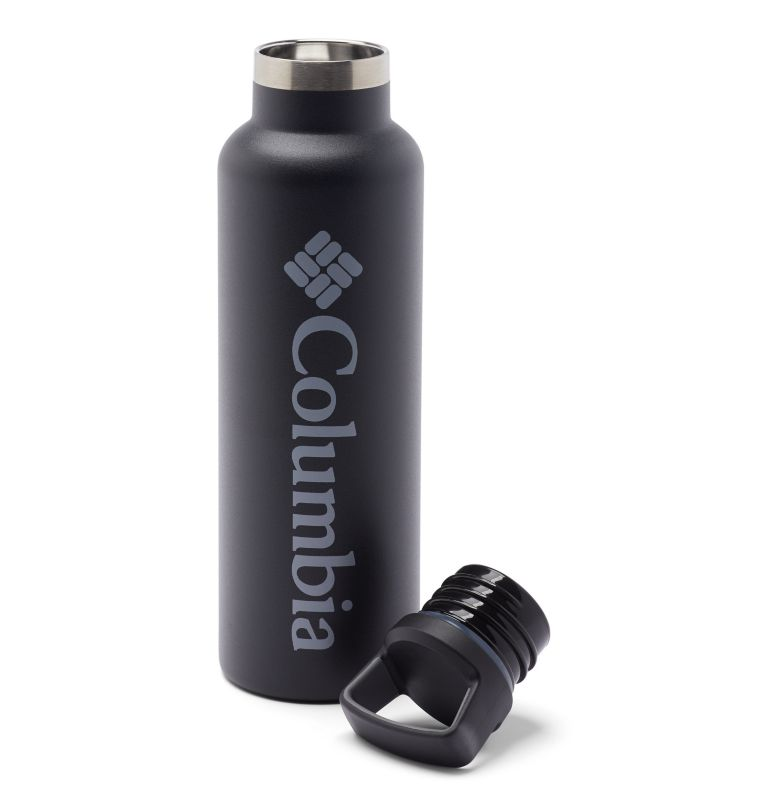 Double-Wall Vacuum Bottle with Screw-On Top - 21oz | 010 | O/S Double-Wall Vacuum Bottle with Screw-On Top - 21oz, Black, a1