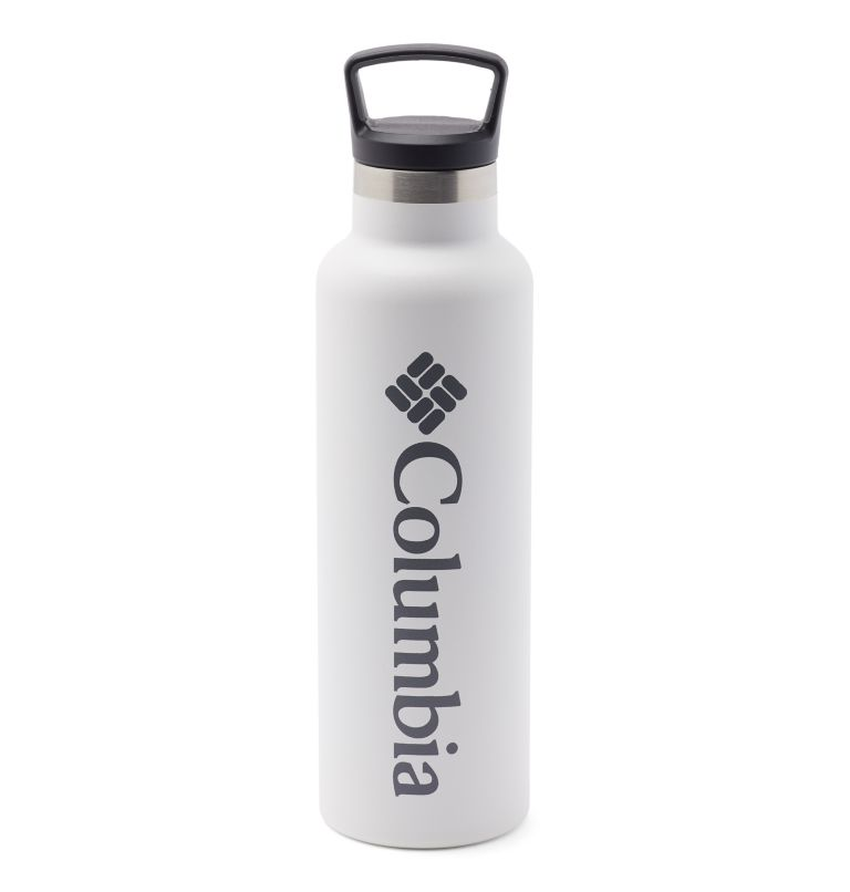 Botella con doble pared aislada al vacío y tapón de rosca - 0,6 l Botella con doble pared aislada al vacío y tapón de rosca - 0,6 l, White, front