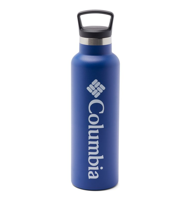 Double-Wall Vacuum Bottle with Screw-On Top 20oz Double-Wall Vacuum Bottle with Screw-On Top 20oz, Azul, front