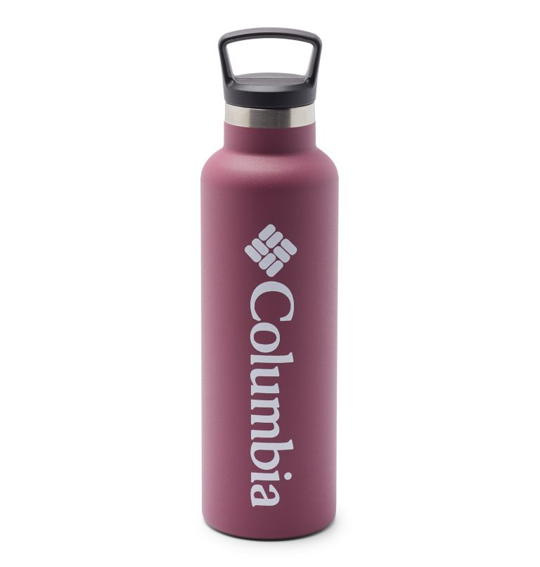 Double-Wall Vacuum Bottle with Screw-On Top - 21oz | 550 | O/S Double-Wall Vacuum Bottle with Screw-On Top - 21oz, Wine Berry, front