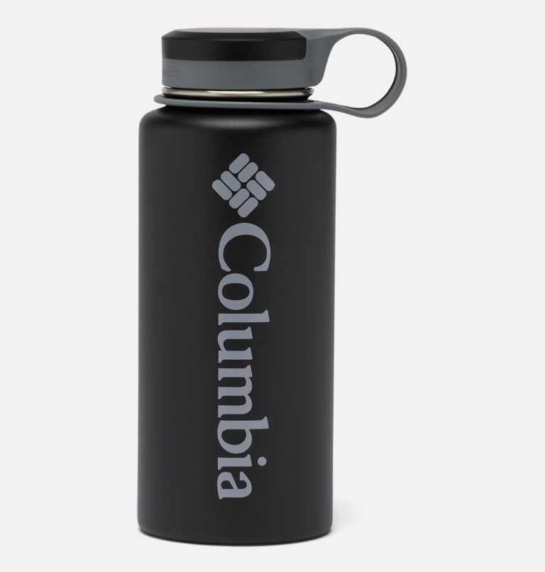 GSO0021   010   O/S Double-Wall Vacuum Bottle with Screw Top Lid 32oz, Black, front