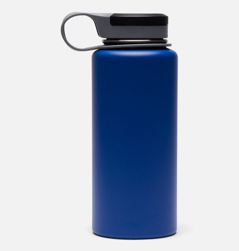 GSO0021 | 437 | O/S Double-Wall Vacuum Bottle with Screw Top Lid 32oz, Azul, back