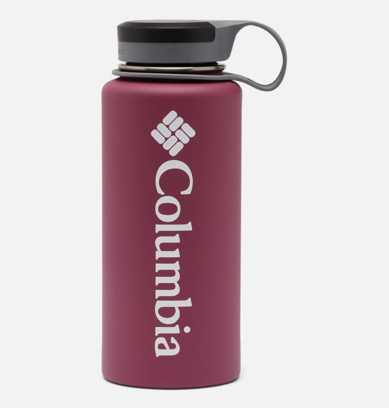 GSO0021   550   O/S Double-Wall Vacuum Bottle with Screw Top Lid 32oz, Wine Berry, front