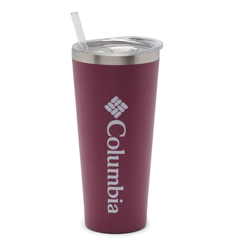 21 oz. Double Wall Tumbler with Straw | 550 | O/S Stainless Steel Double Wall Vacuum Tumbler with Straw 21oz, Wine Berry, front