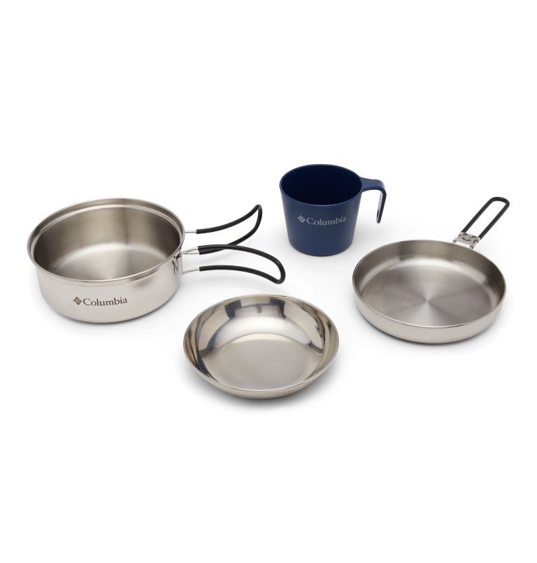 1 Person Mess Kit | 029 | O/S Stainless Steel One-Person Mess Kit, Stainless, front