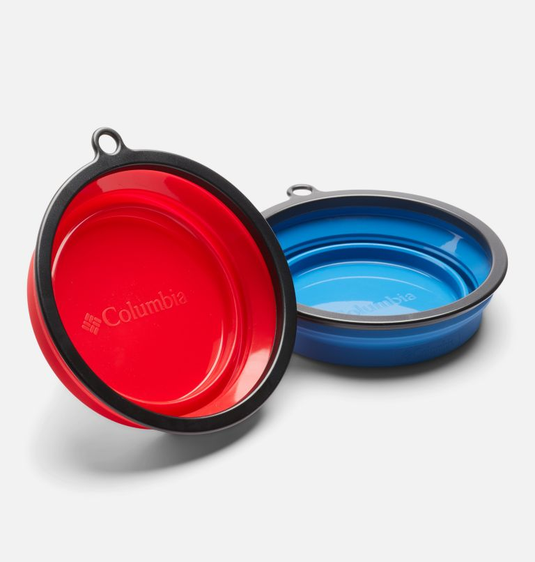 Silicone Bowl Set    437   O/S Collapsible Silicone Bowl - 2 Pack, Blue/Red, a1