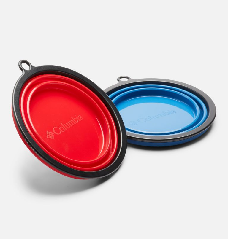 Silicone Bowl Set    437   O/S Collapsible Silicone Bowl - 2 Pack, Blue/Red, a2