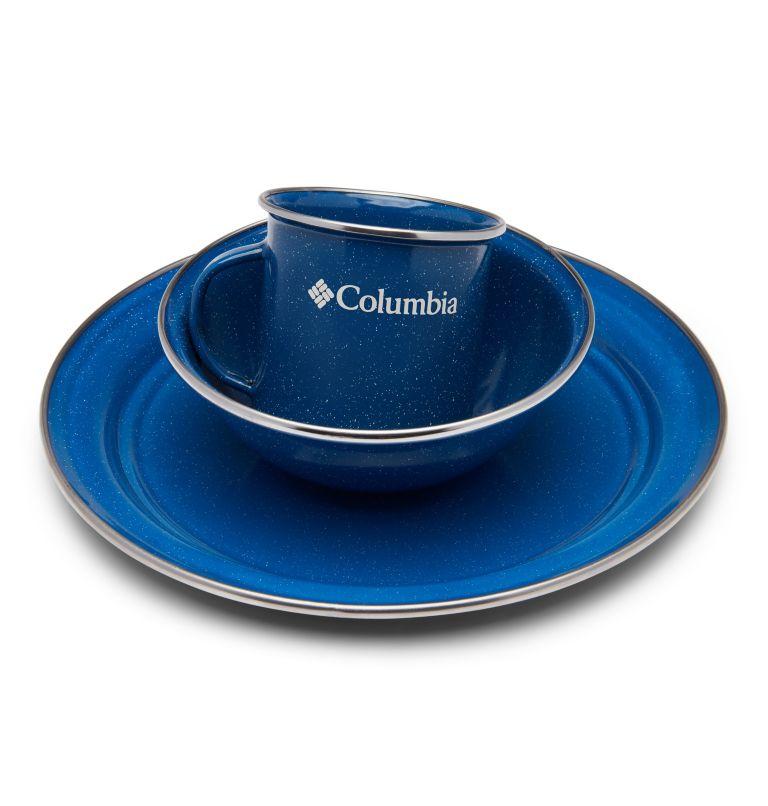 Enamelware Table Set   437   O/S Four-Person Enamelware Table Set, Enamel Blue, a1