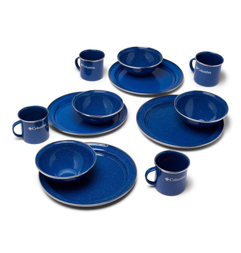 Enamelware Table Set   437   O/S Four-Person Enamelware Table Set, Enamel Blue, front