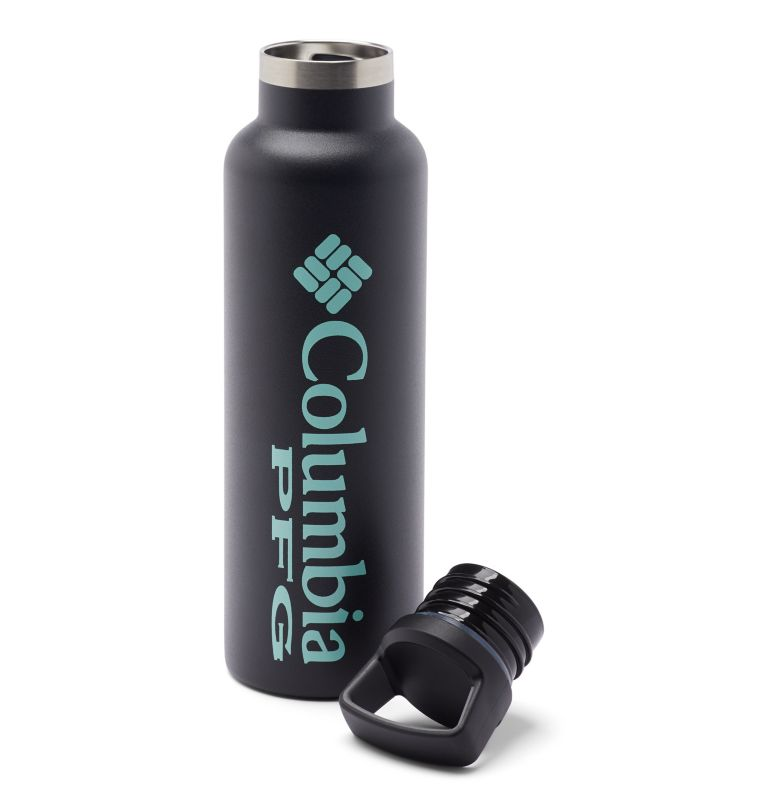 Tritan Water Bottle   010   O/S PFG Double-Wall Vacuum Bottle with Screw-On Top - 21oz, Black, a1