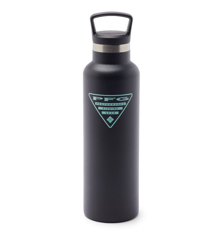 GSO0048 | 010 | O/S PFG Double-Wall Vacuum Bottle with Screw-On Top - 21oz, Black, back