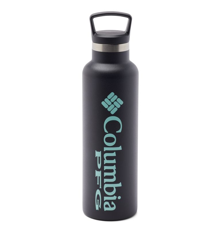 GSO0048 | 010 | O/S PFG Double-Wall Vacuum Bottle with Screw-On Top - 21oz, Black, front