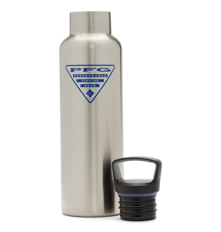 Tritan Water Bottle   029   O/S PFG Double-Wall Vacuum Bottle with Screw-On Top - 21oz, Stainless, back