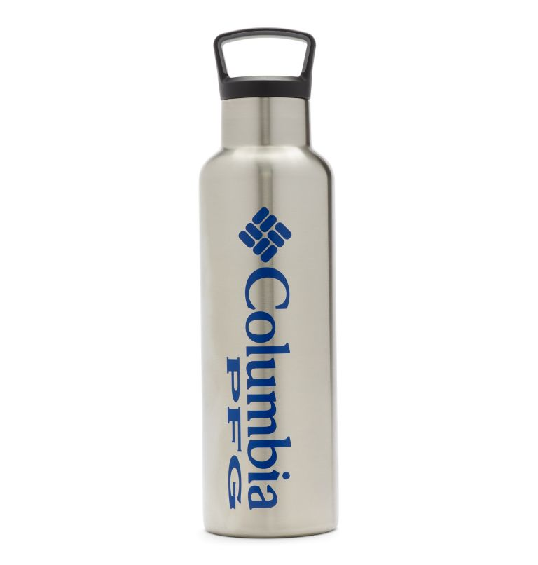 Tritan Water Bottle   029   O/S PFG Double-Wall Vacuum Bottle with Screw-On Top - 21oz, Stainless, front